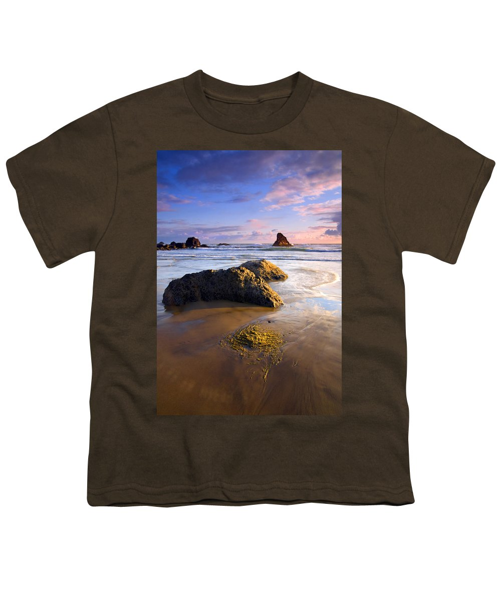 Beach Youth T-Shirt featuring the photograph Golden Coast by Mike Dawson
