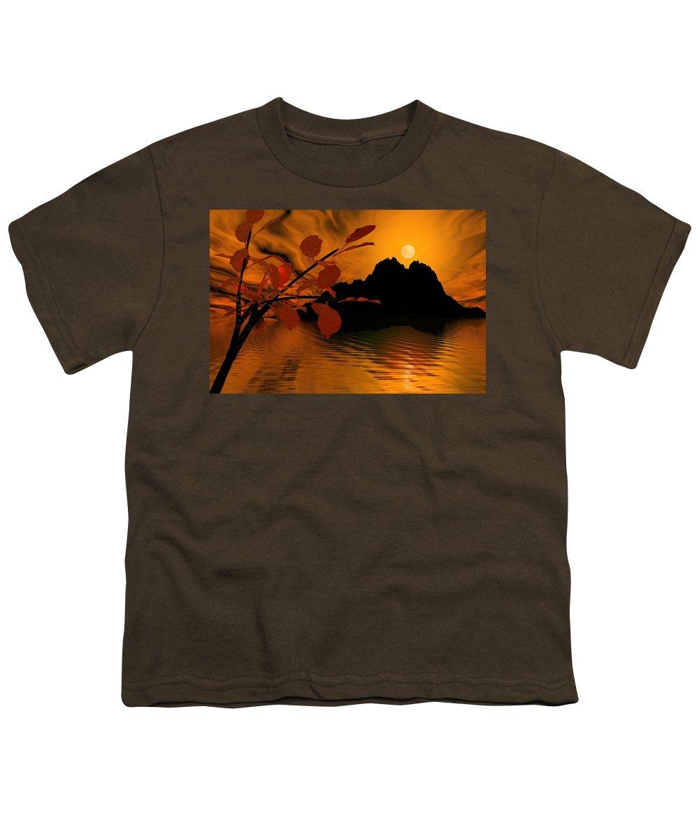 Landscape Youth T-Shirt featuring the digital art Golden Slumber Fills My Dreams. by David Lane