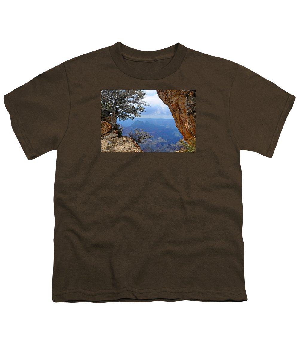 Grand Canyon North Rim Youth T-Shirt featuring the photograph Grand Canyon North Rim Window in the Rock by Victoria Oldham