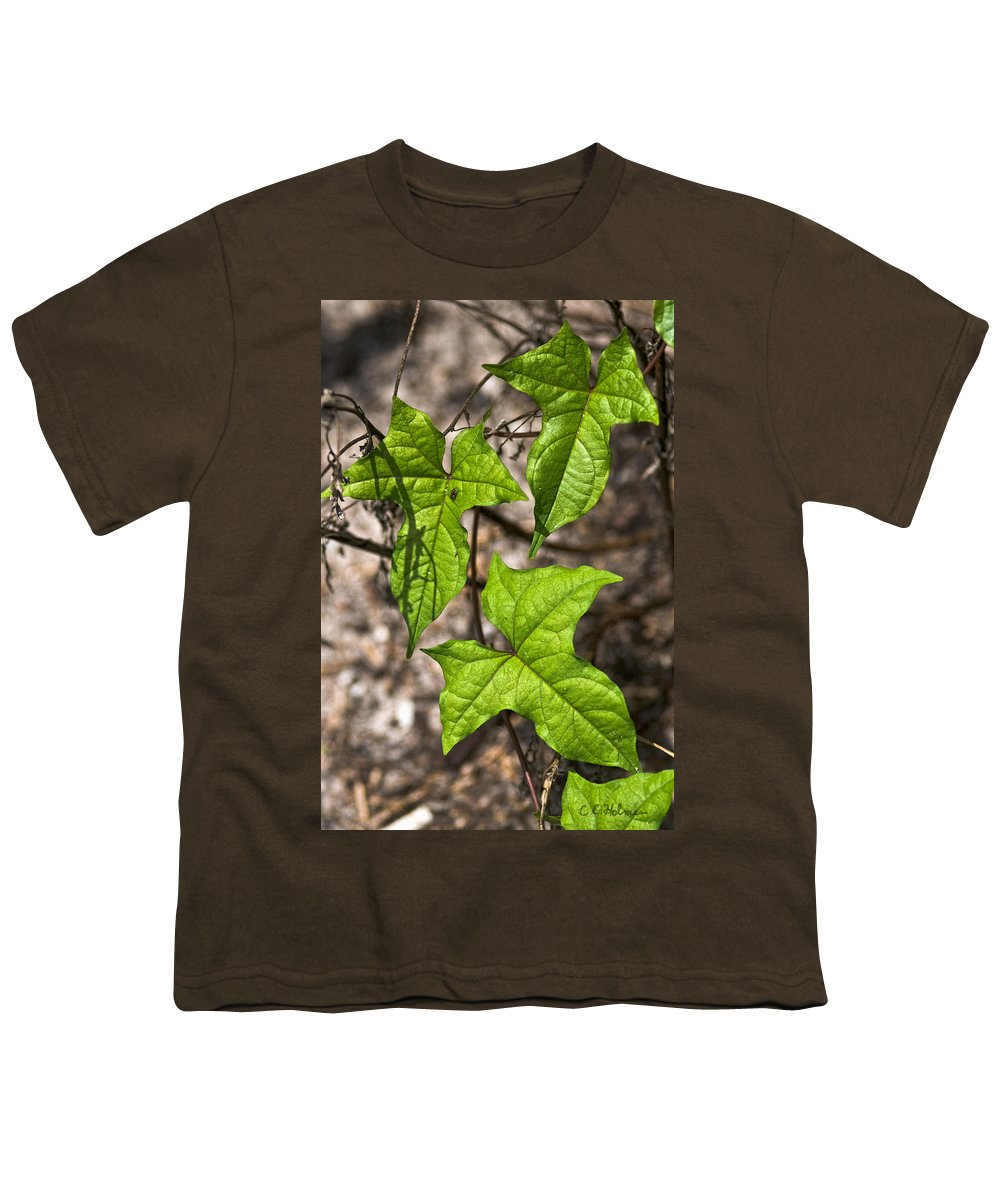 Green Youth T-Shirt featuring the photograph Green Arrowheads by Christopher Holmes