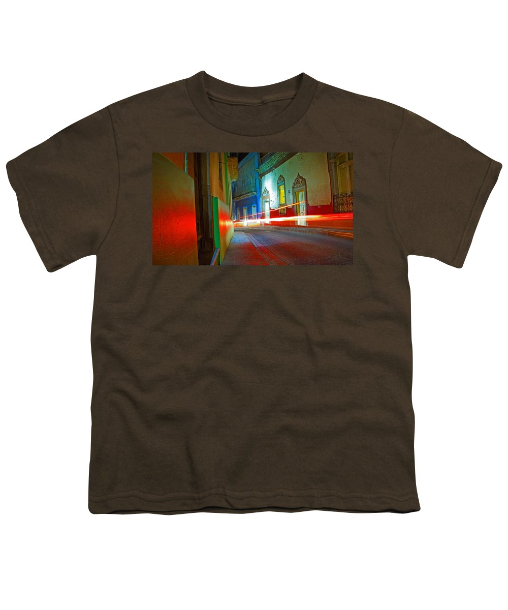 Shadow Youth T-Shirt featuring the photograph Guanajuato Night by Skip Hunt