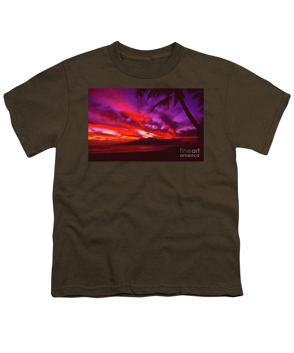 Landscapes Youth T-Shirt featuring the photograph Hand Of Fire by Jim Cazel