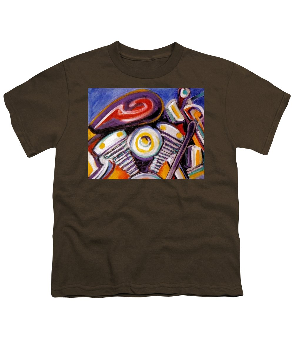 Abstract Youth T-Shirt featuring the painting Harley Closeup by Anita Burgermeister