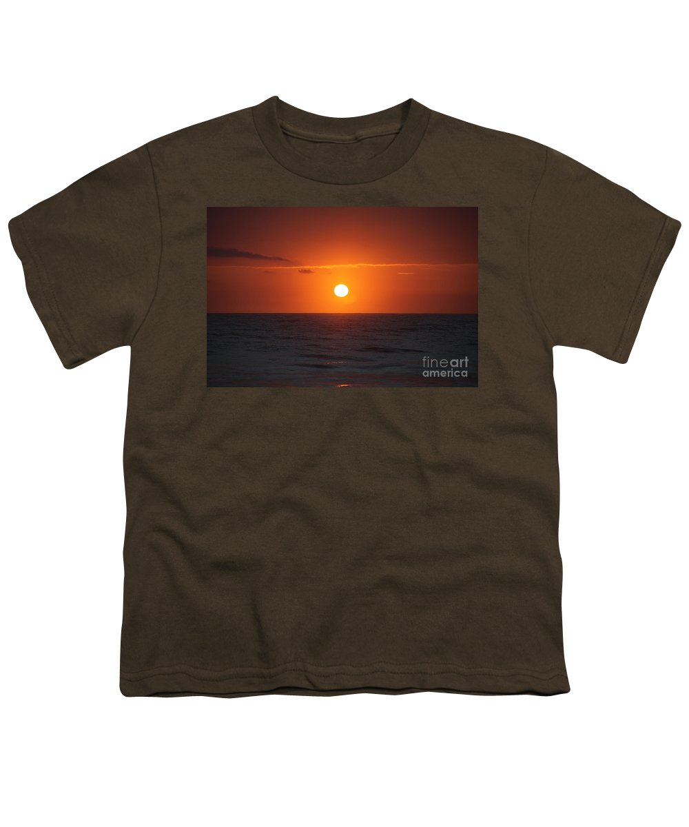 Sunrise Youth T-Shirt featuring the photograph Hawaiian Sunrise by Nadine Rippelmeyer