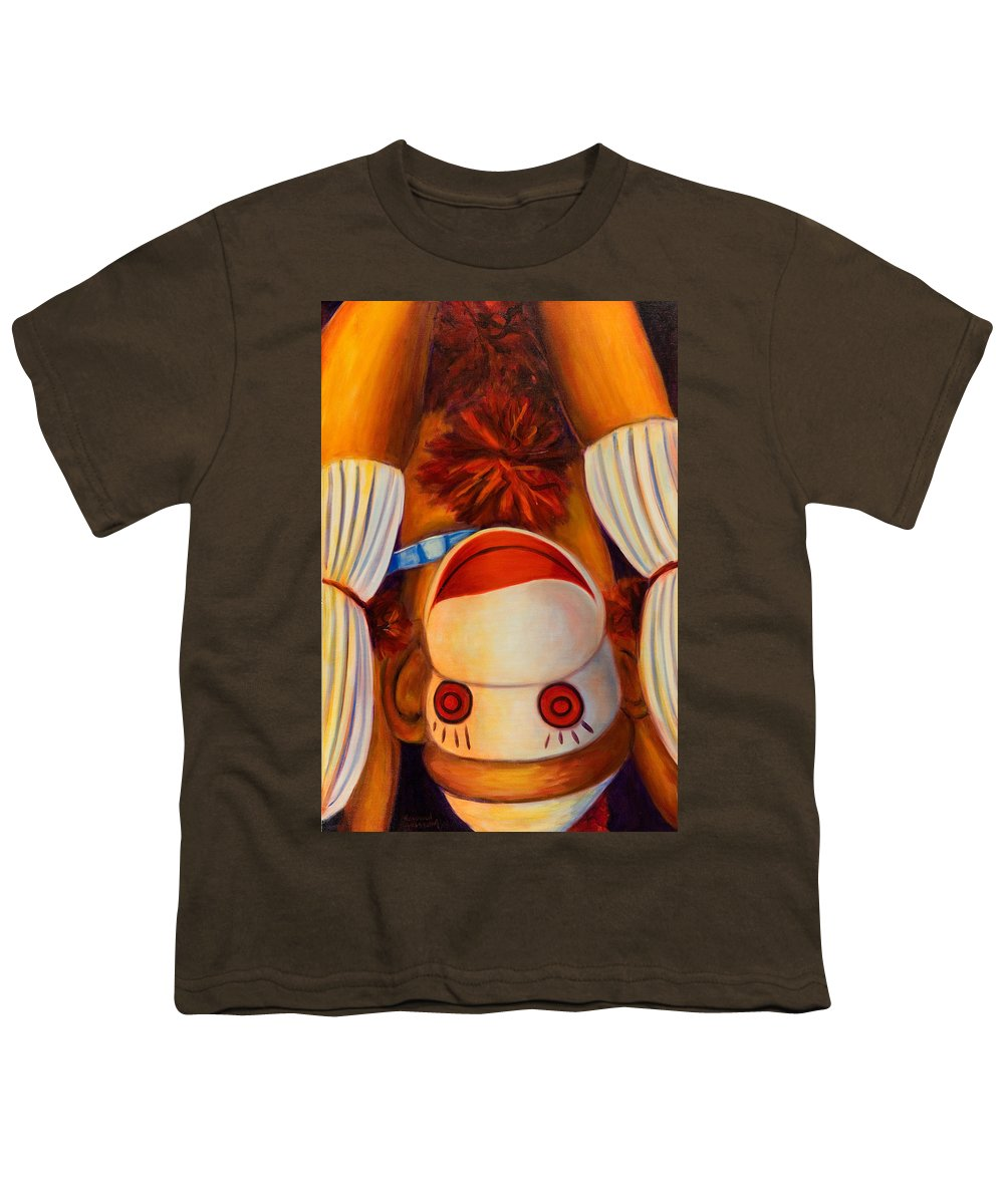 Children Youth T-Shirt featuring the painting Head-over-heels by Shannon Grissom