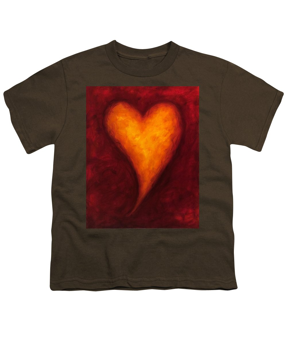 Heart Youth T-Shirt featuring the painting Heart Of Gold 2 by Shannon Grissom