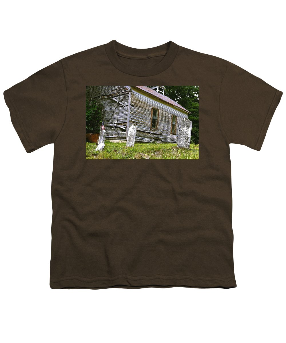 Church Youth T-Shirt featuring the photograph Hocking Hills Church by Nelson Strong