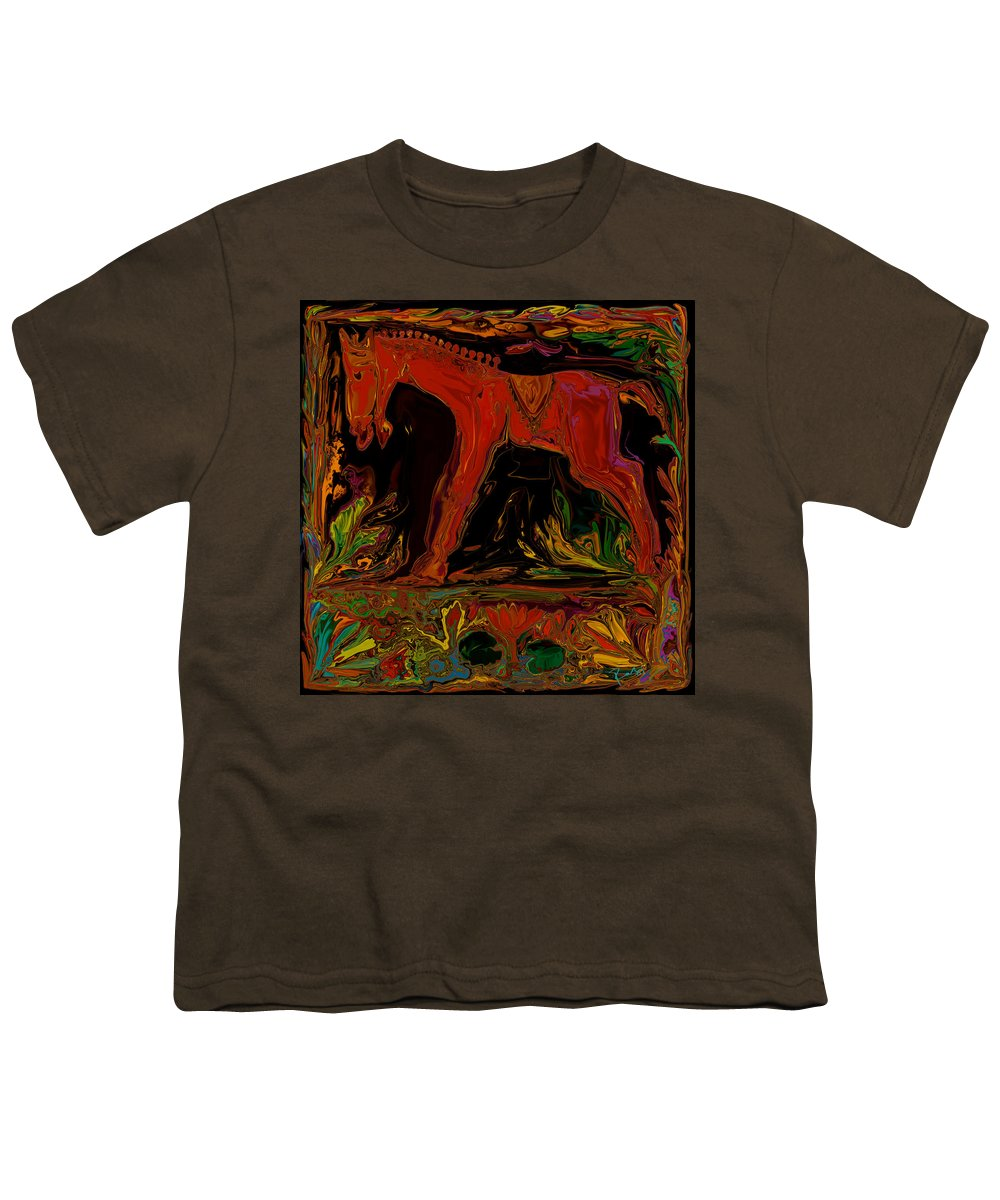 Animal Youth T-Shirt featuring the digital art Horse by Rabi Khan