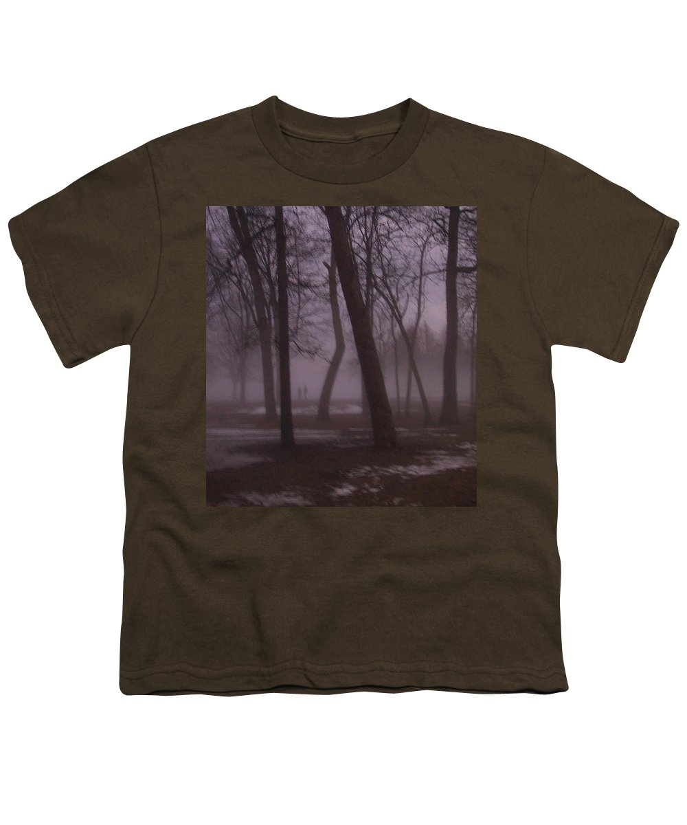 January Youth T-Shirt featuring the photograph January Fog 1 by Anita Burgermeister