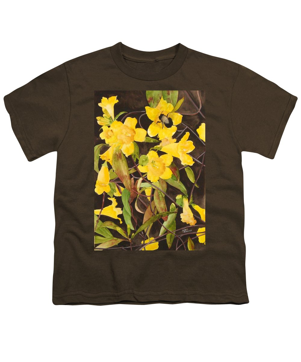 Flowers Youth T-Shirt featuring the painting Jessamine Jungle by Jean Blackmer