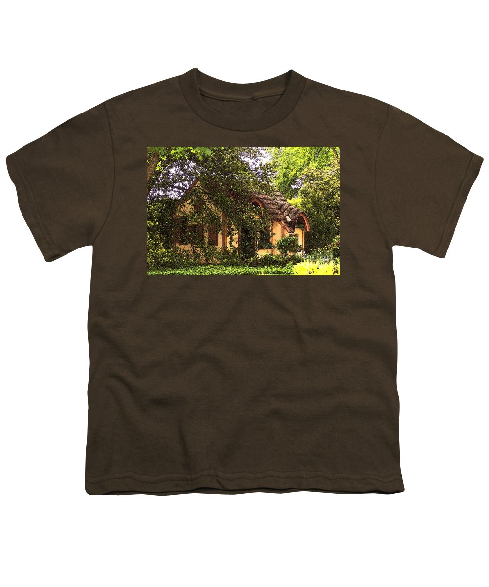 Cottage Youth T-Shirt featuring the photograph La Maison by Debbi Granruth