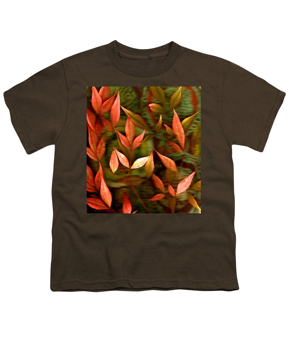 Leaves Youth T-Shirt featuring the photograph Leaf Collage Photo by Wayne Potrafka