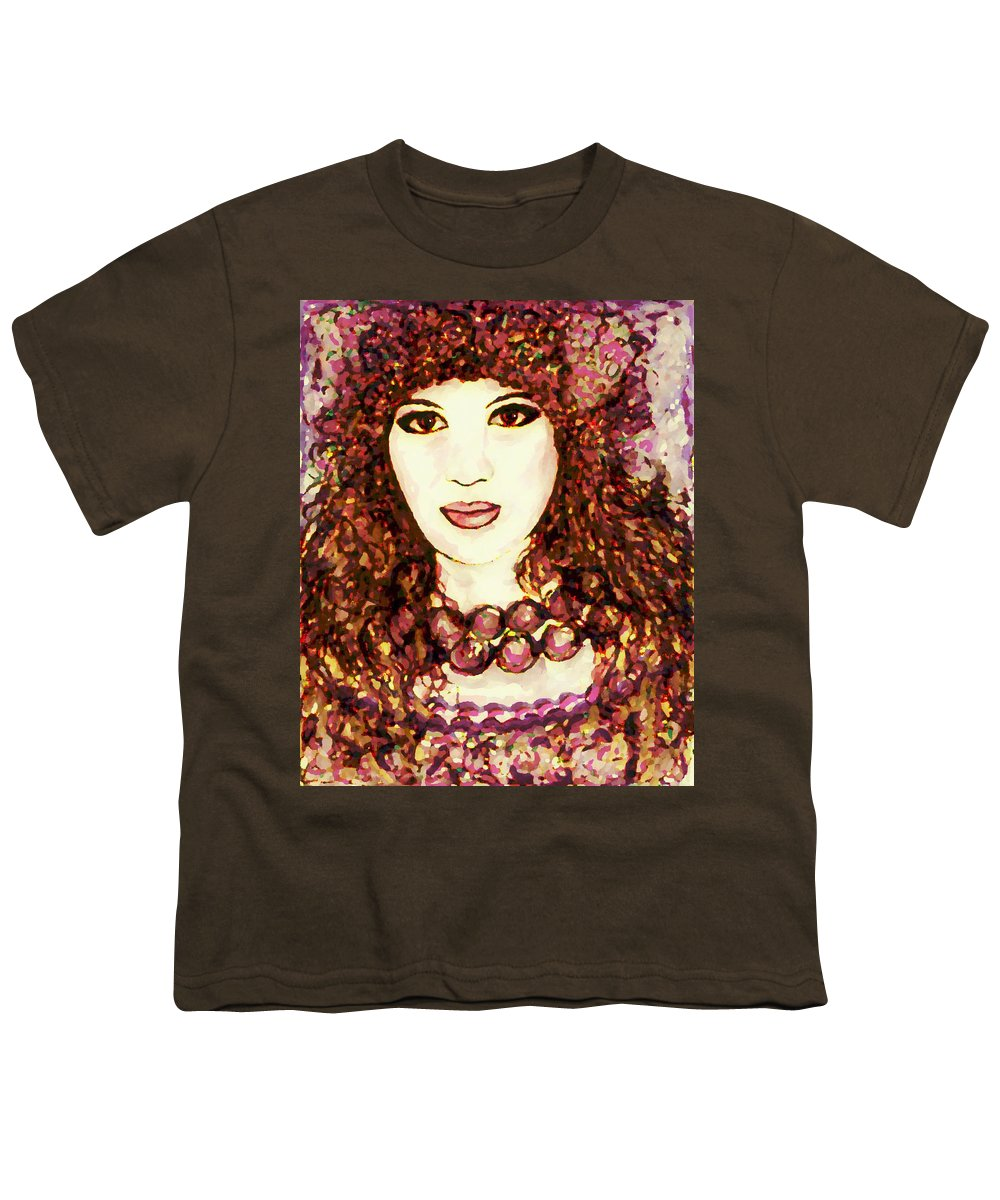 Woman Youth T-Shirt featuring the painting Lilac by Natalie Holland
