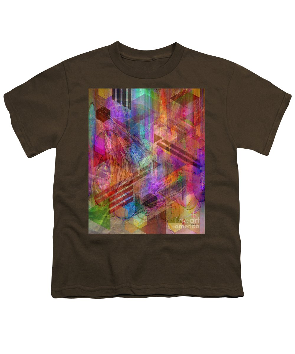 Magnetic Abstraction Youth T-Shirt featuring the digital art Magnetic Abstraction by John Beck