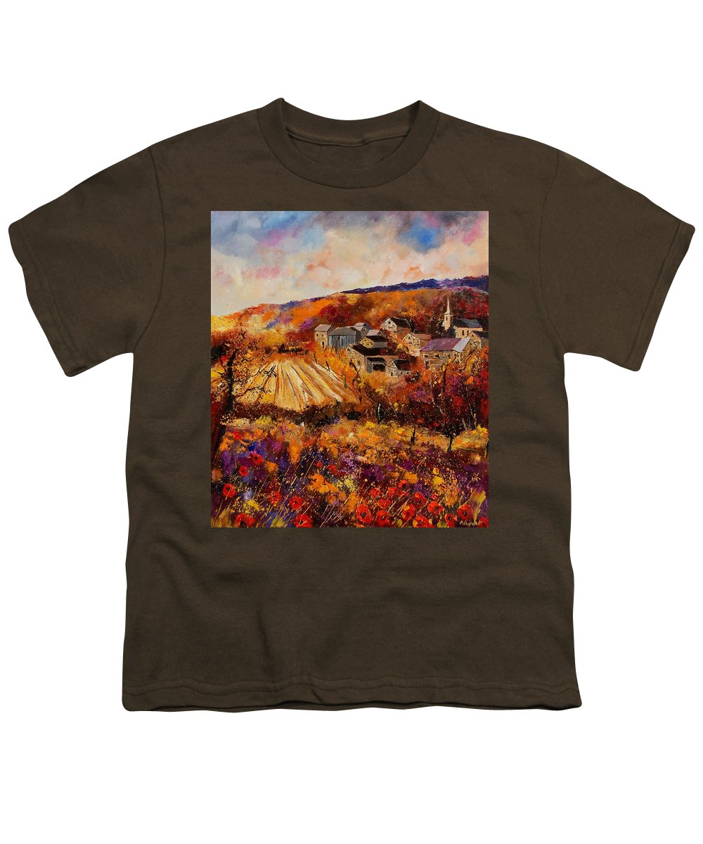 Poppies Youth T-Shirt featuring the painting Maissin by Pol Ledent