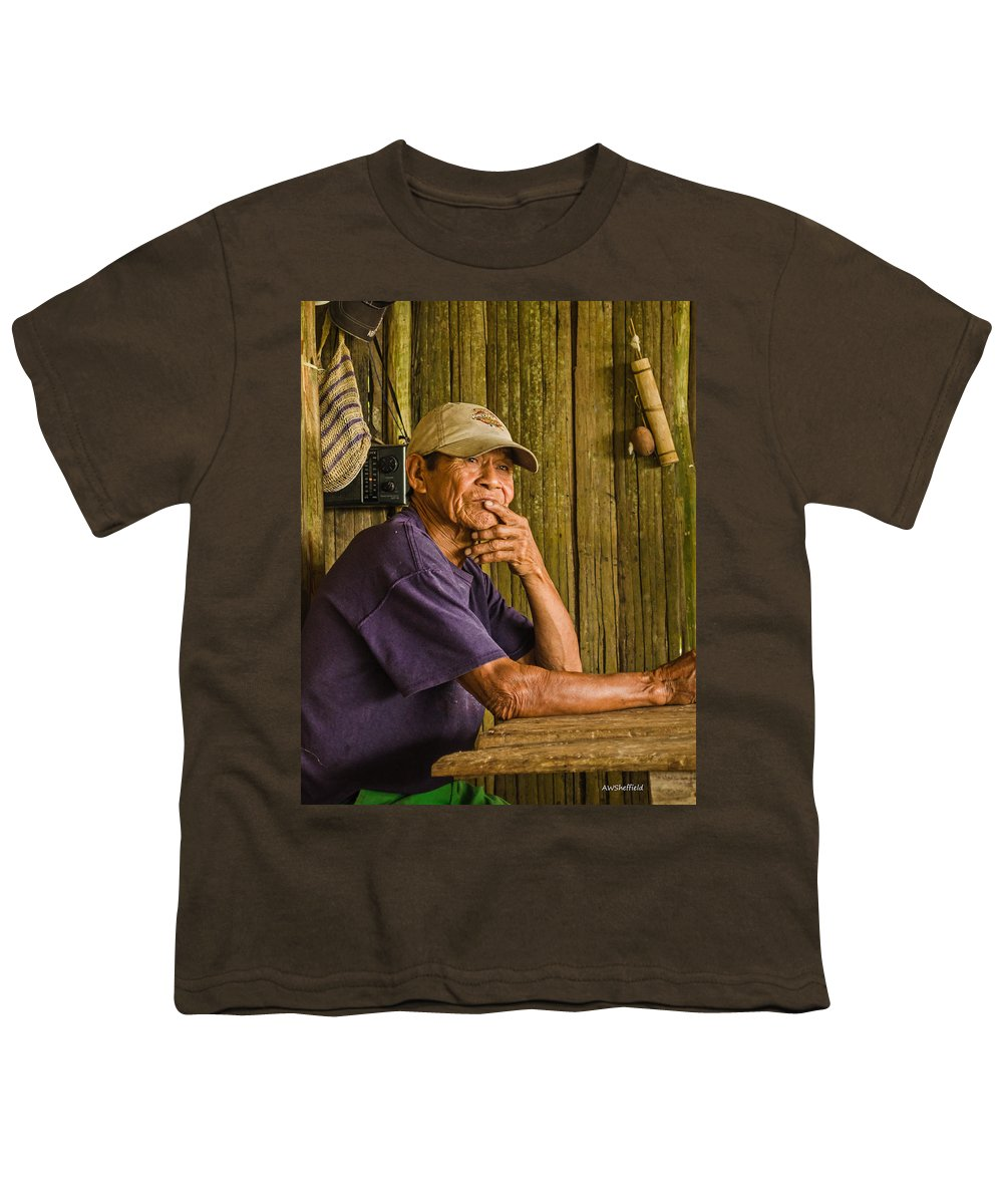 Peru Youth T-Shirt featuring the photograph Man Of The House by Allen Sheffield