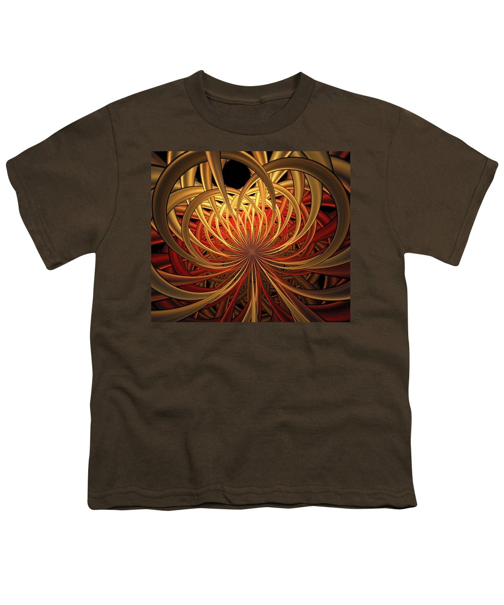 Digital Art Youth T-Shirt featuring the digital art Marigold by Amanda Moore