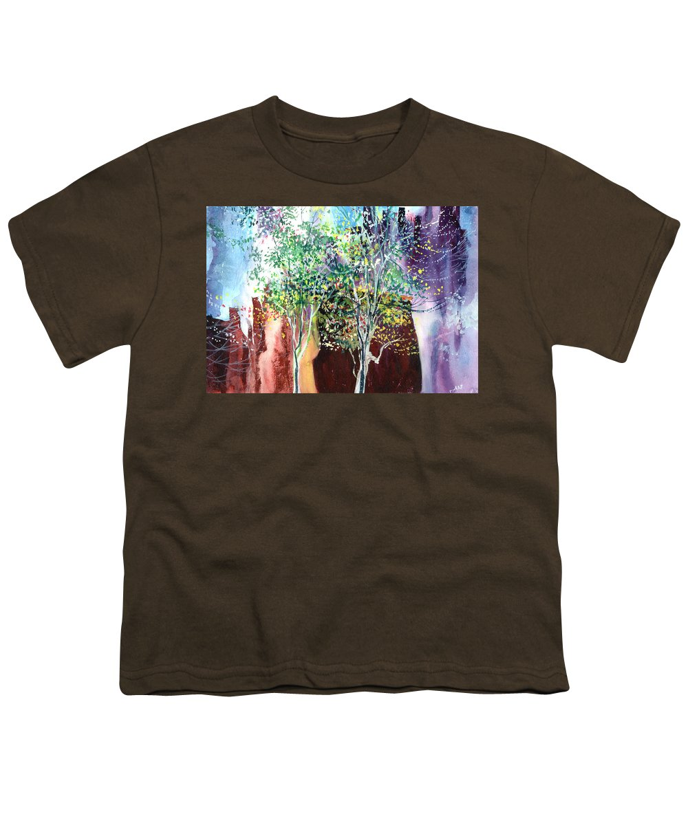 Nature Youth T-Shirt featuring the painting Maya by Anil Nene