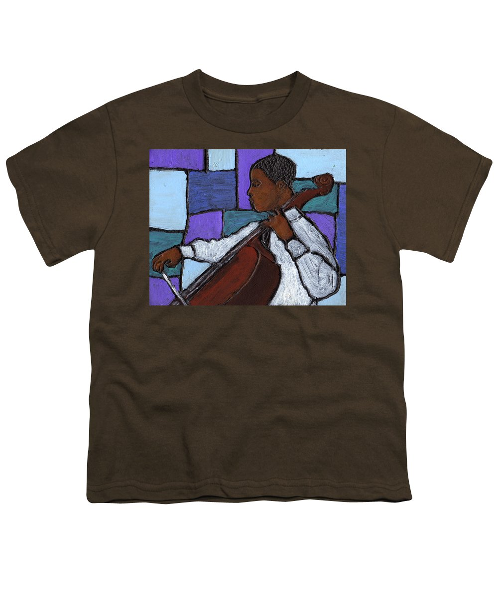Blues Youth T-Shirt featuring the painting Mellow Blues by Wayne Potrafka