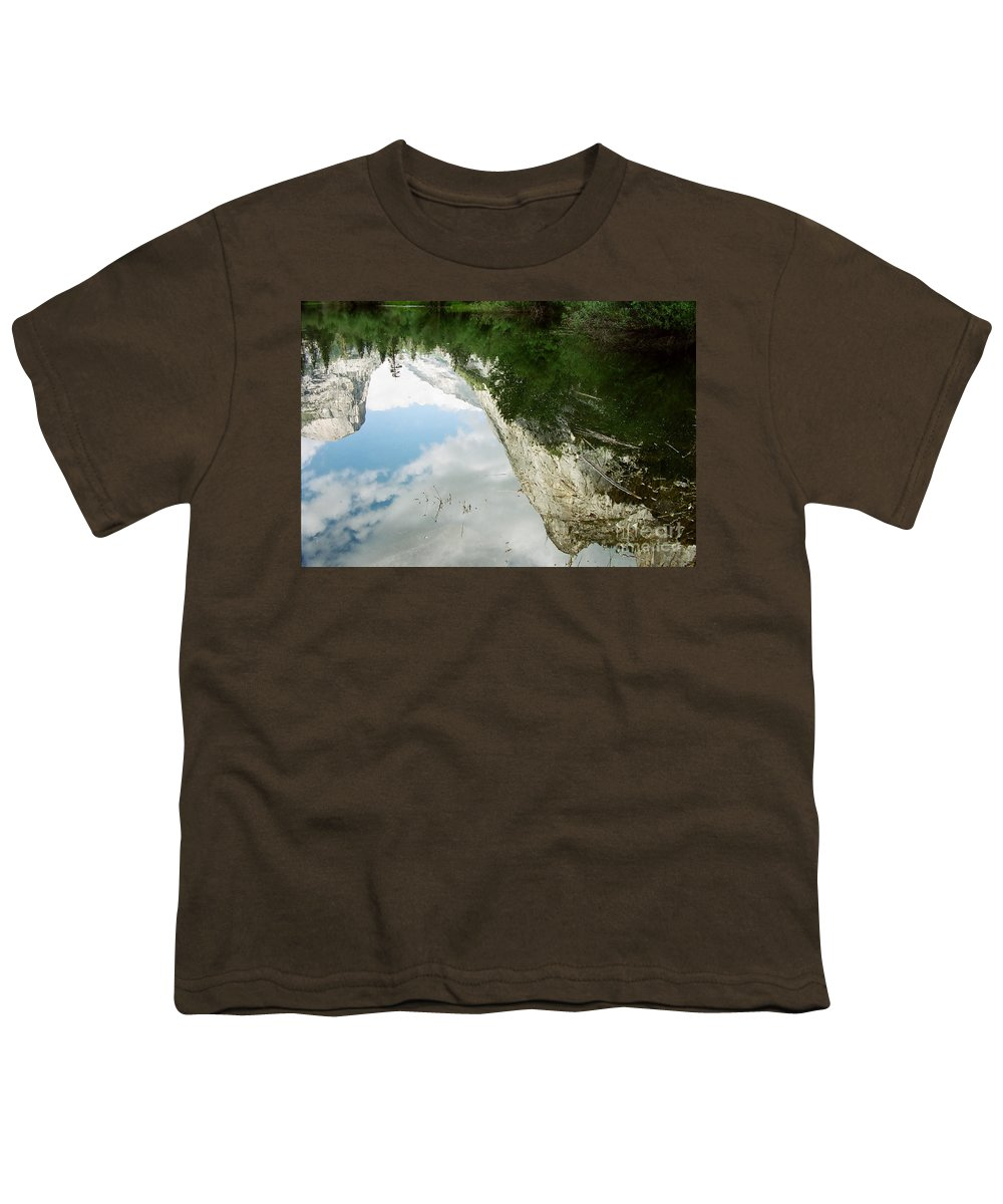 Mirror Lake Youth T-Shirt featuring the photograph Mirrored by Kathy McClure