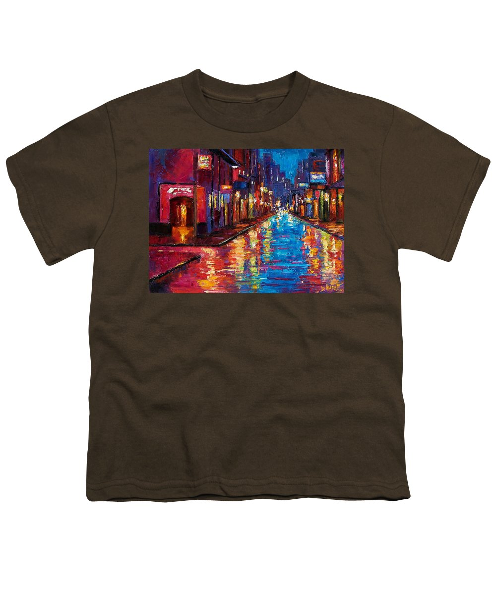 New Orleans Youth T-Shirt featuring the painting New Orleans Magic by Debra Hurd