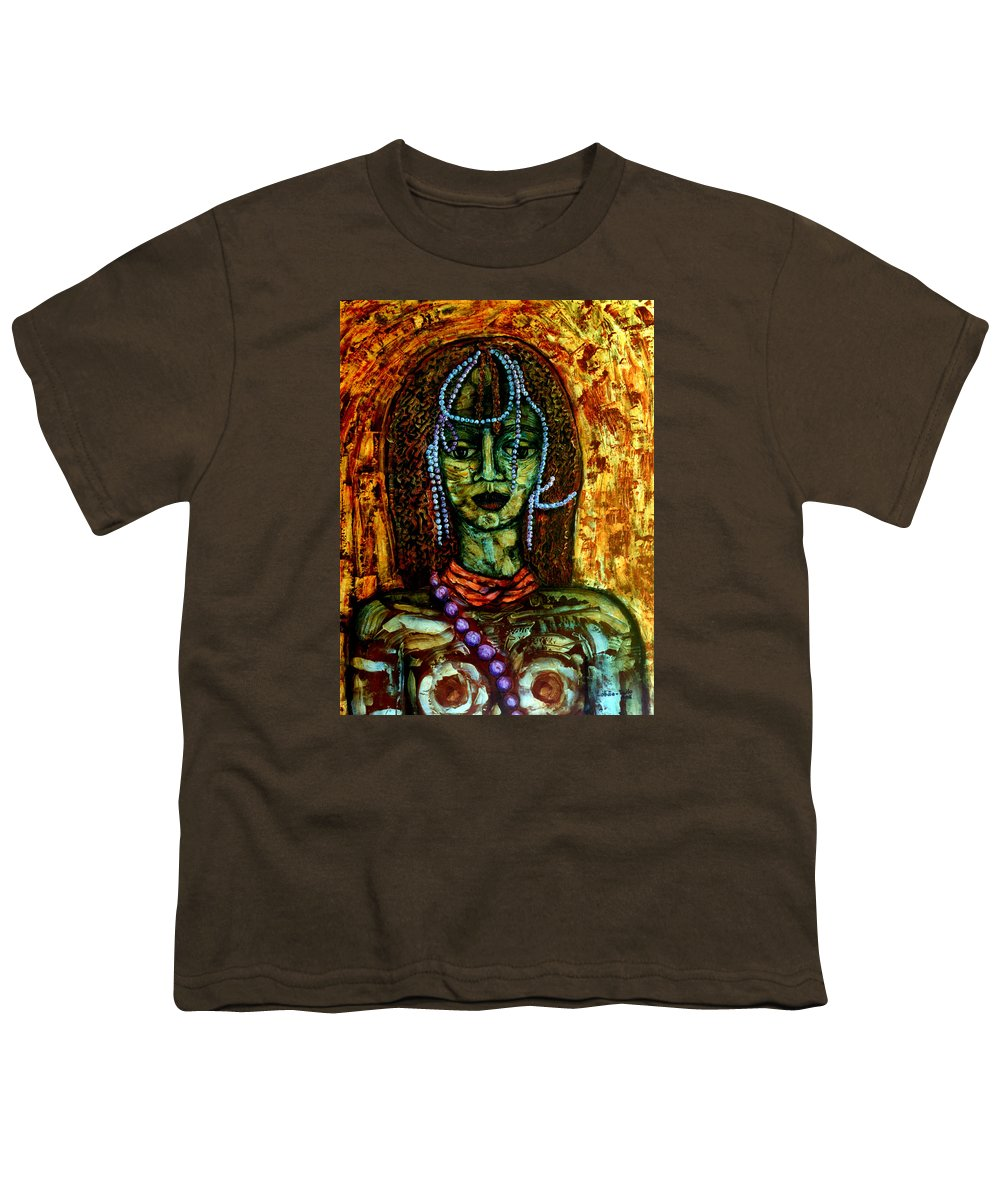 Memories Youth T-Shirt featuring the painting Of Another Childhood I Keep Memories by Madalena Lobao-Tello