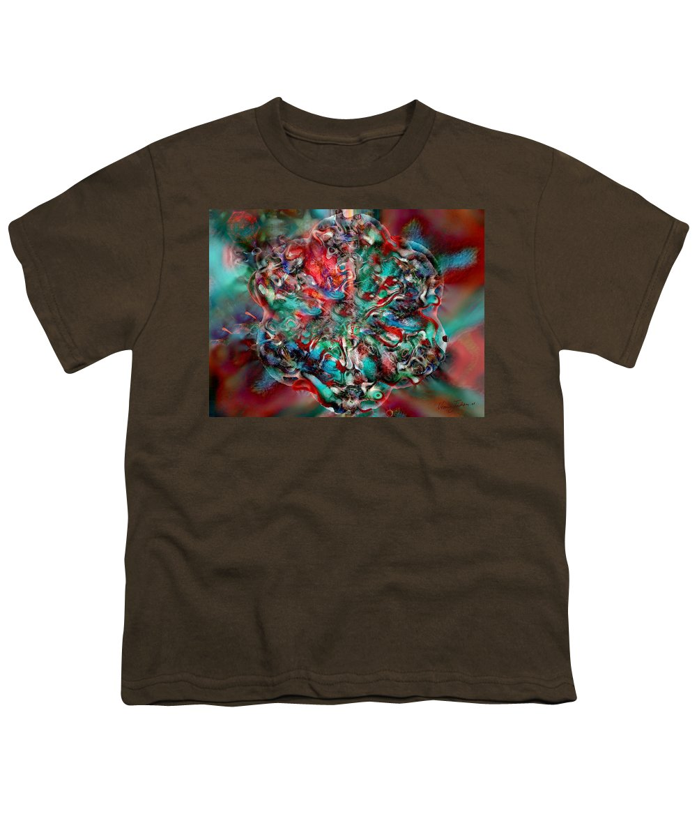 Heart Passion Life Youth T-Shirt featuring the digital art Open Heart by Veronica Jackson