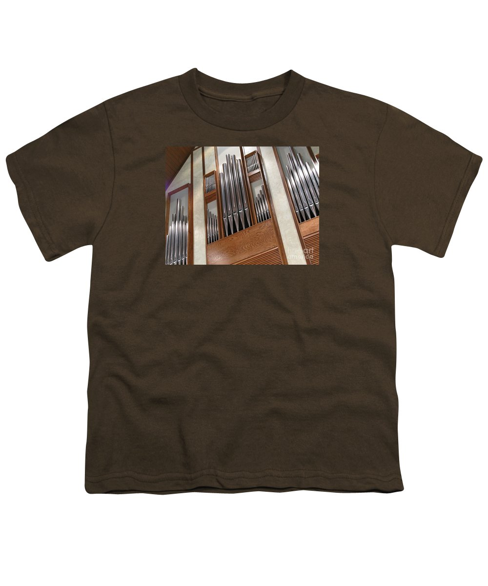 Music Youth T-Shirt featuring the photograph Organ Pipes by Ann Horn