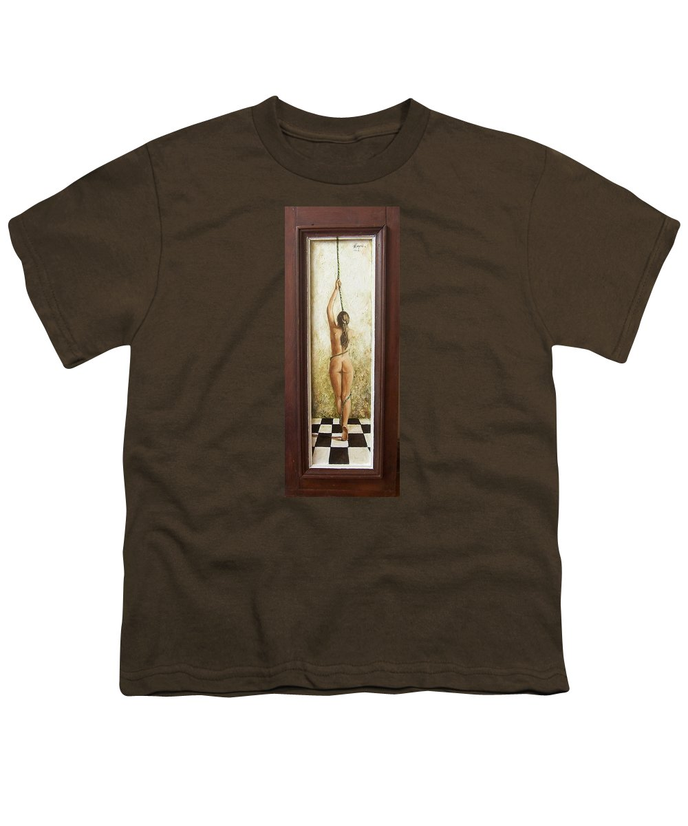 Figurative Youth T-Shirt featuring the painting Out Of Chess by Natalia Tejera