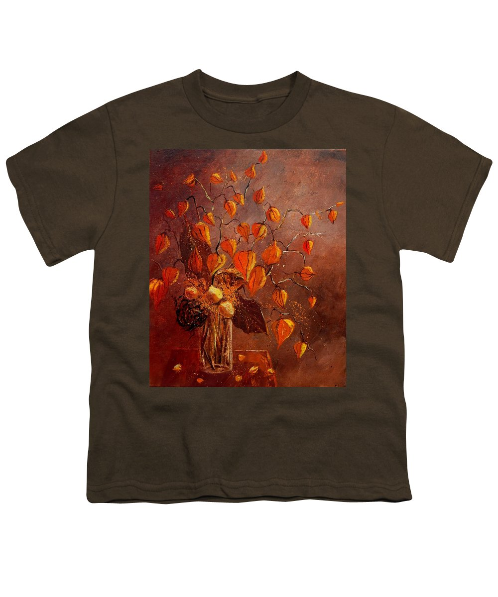 Poppies Youth T-Shirt featuring the painting Physialis by Pol Ledent