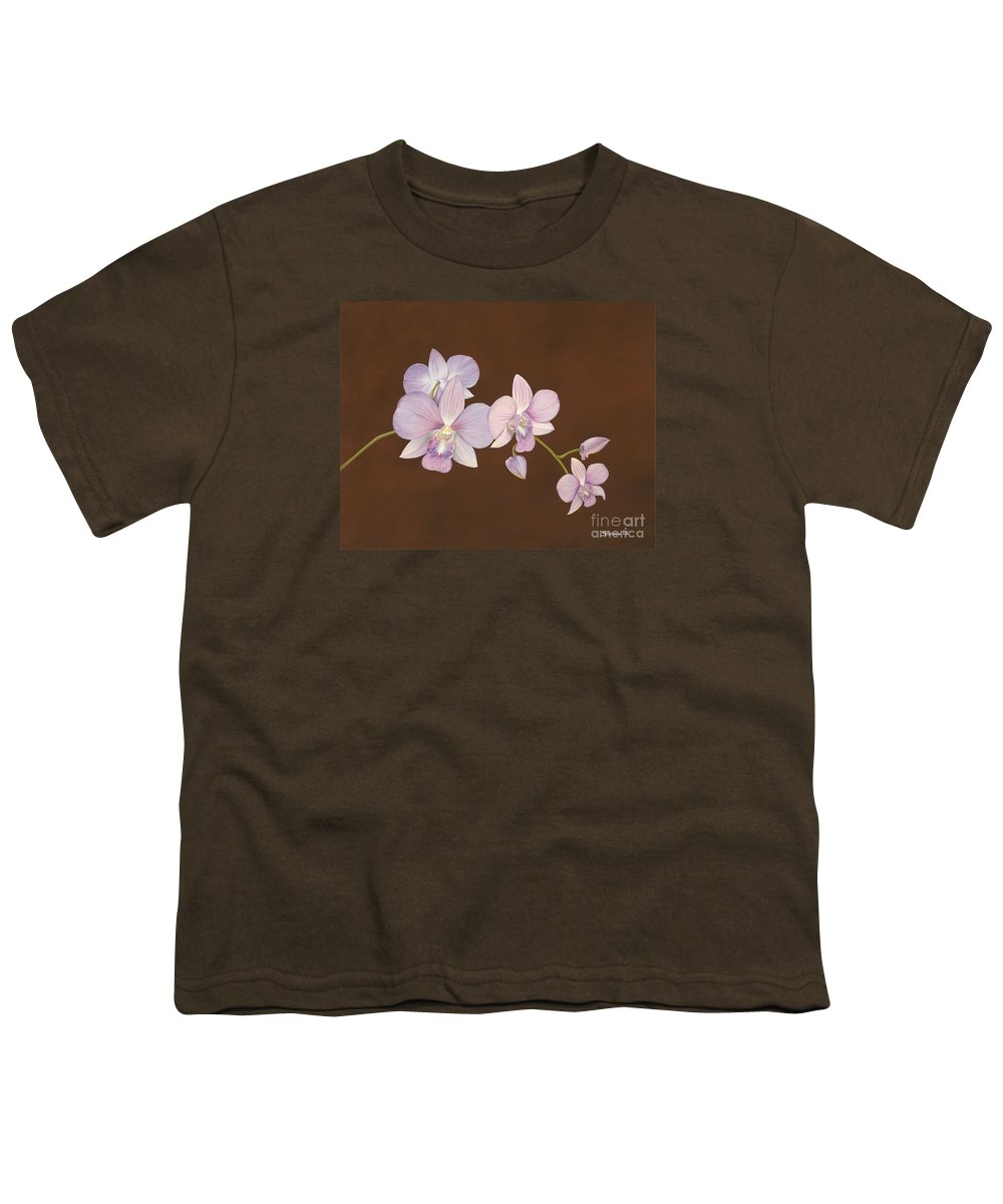 Orchid Youth T-Shirt featuring the painting Pink Orchids by Shawn Stallings