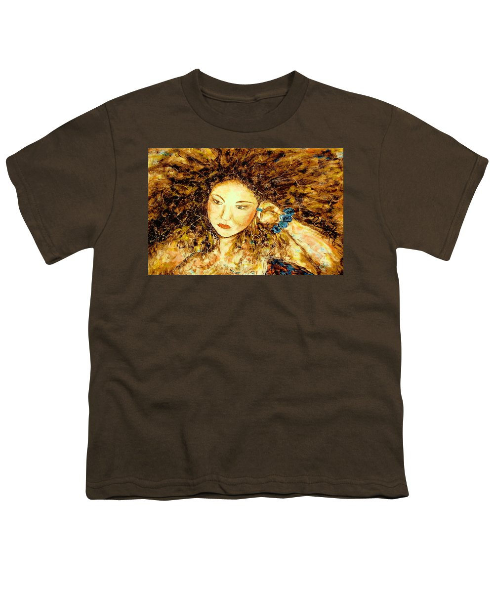 Portrait Youth T-Shirt featuring the painting Poet by Natalie Holland