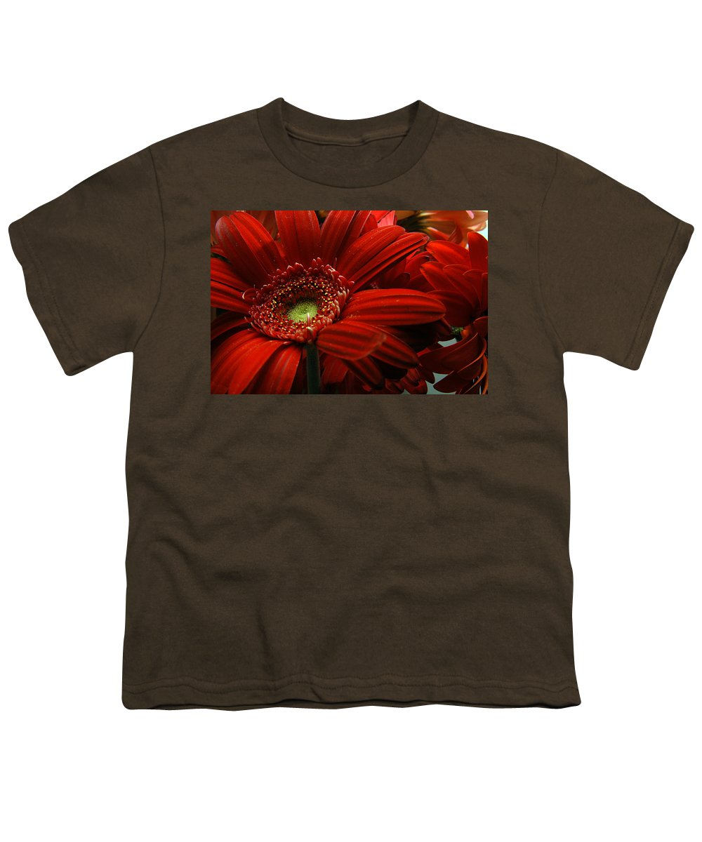 Clay Youth T-Shirt featuring the photograph Red Floral by Clayton Bruster