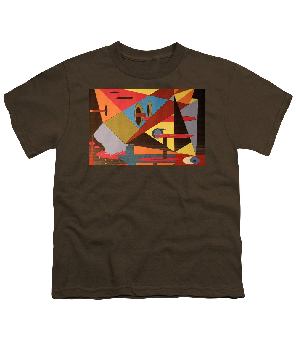 Abstract Youth T-Shirt featuring the digital art Regret by Ian MacDonald