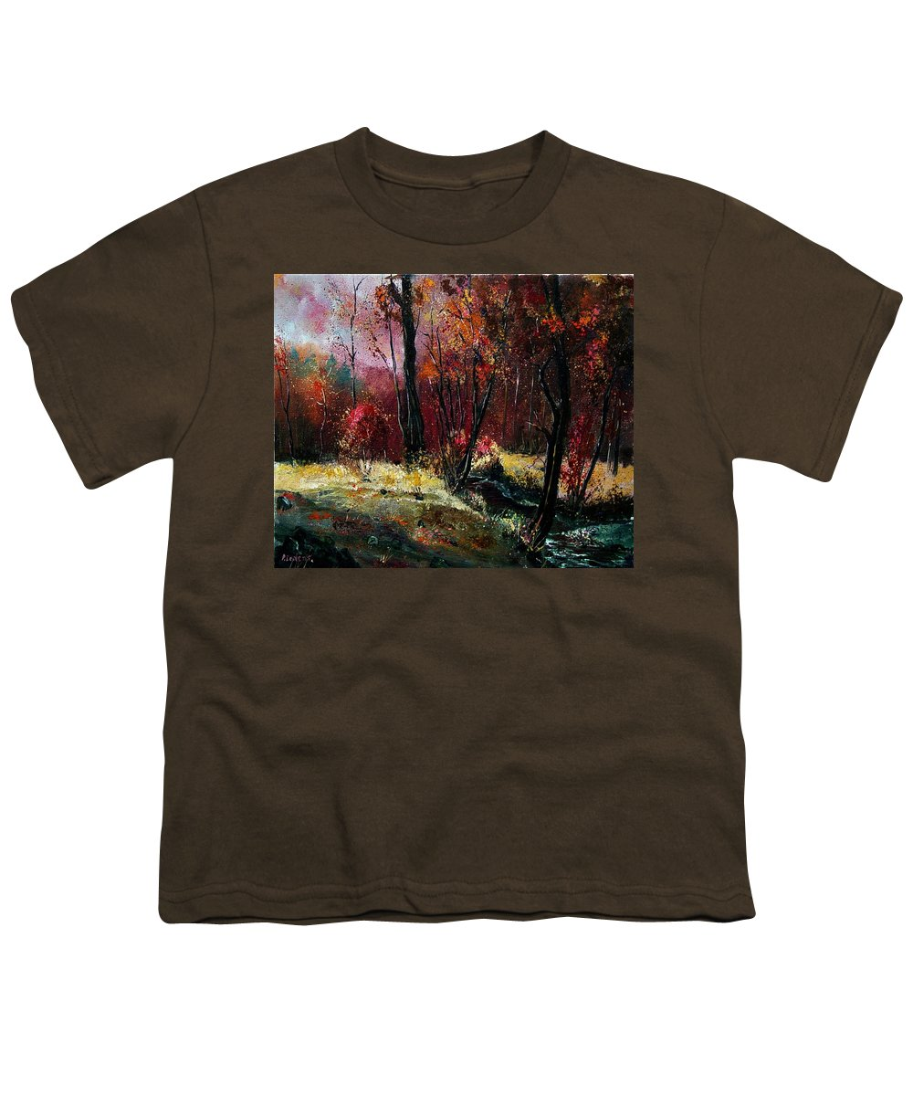 River Youth T-Shirt featuring the painting River Ywoigne by Pol Ledent