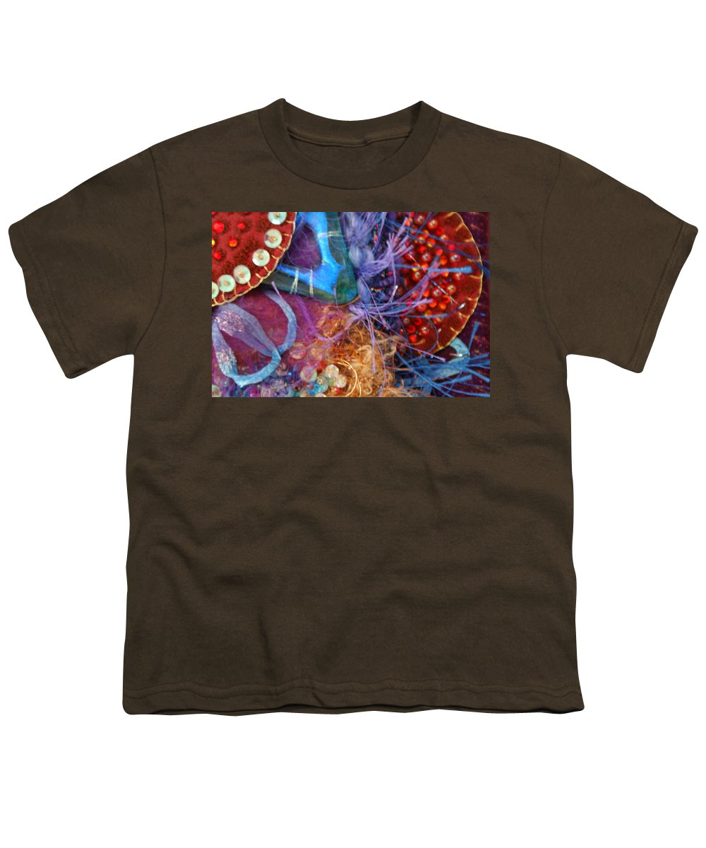 Youth T-Shirt featuring the mixed media Ruby Slippers 6 by Judy Henninger