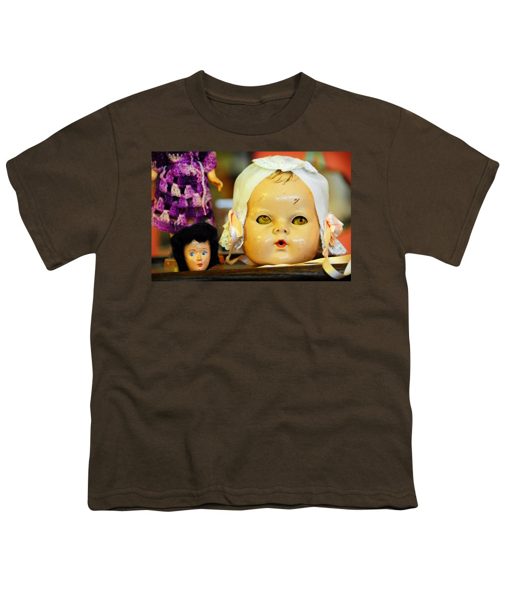 Antique Youth T-Shirt featuring the photograph Rumormongers by Skip Hunt
