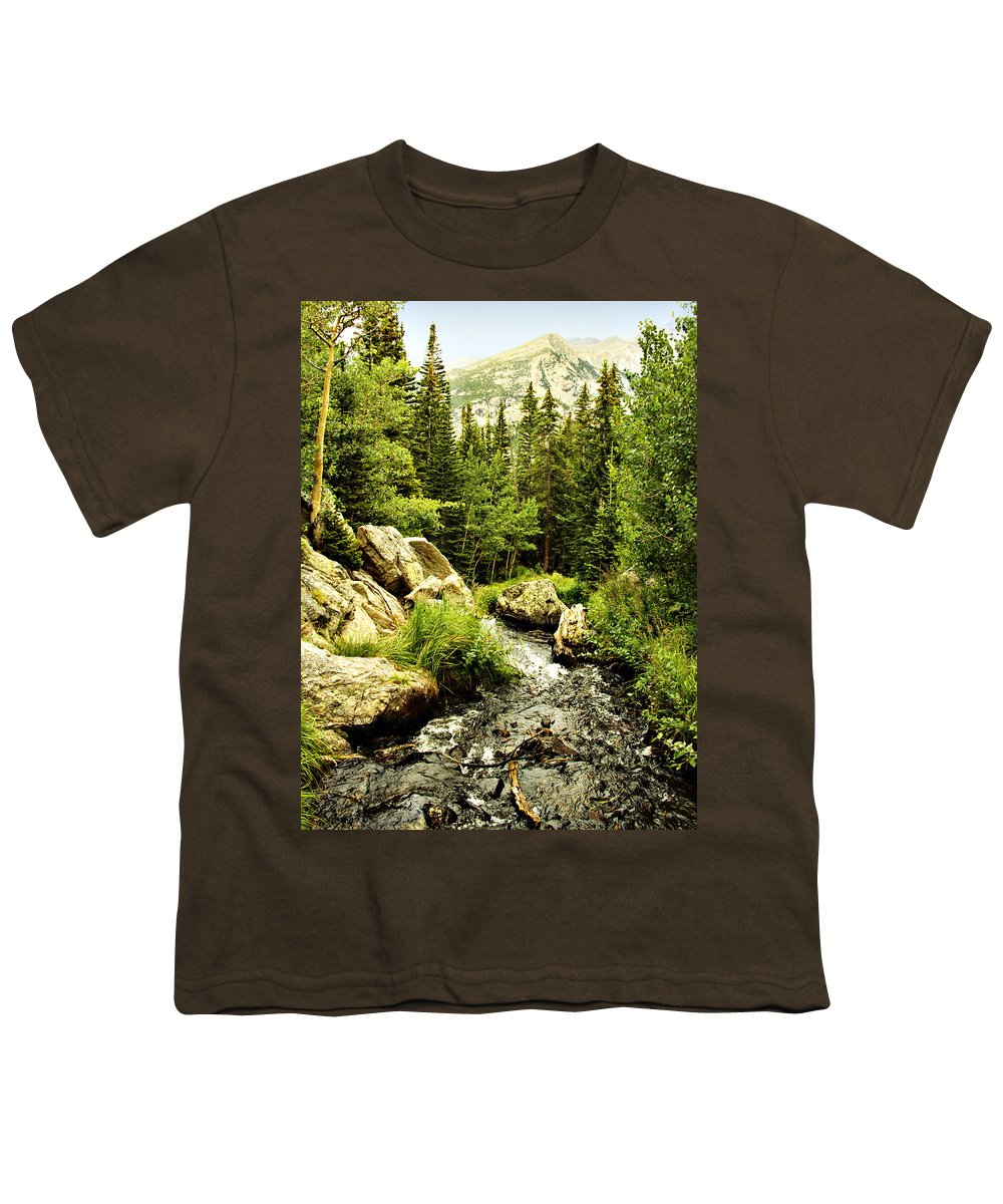 Colorado Youth T-Shirt featuring the photograph Running River by Marilyn Hunt