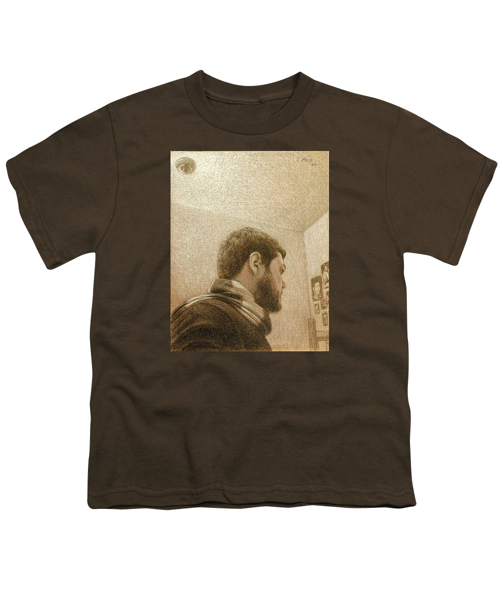 Youth T-Shirt featuring the painting Self by Joe Velez