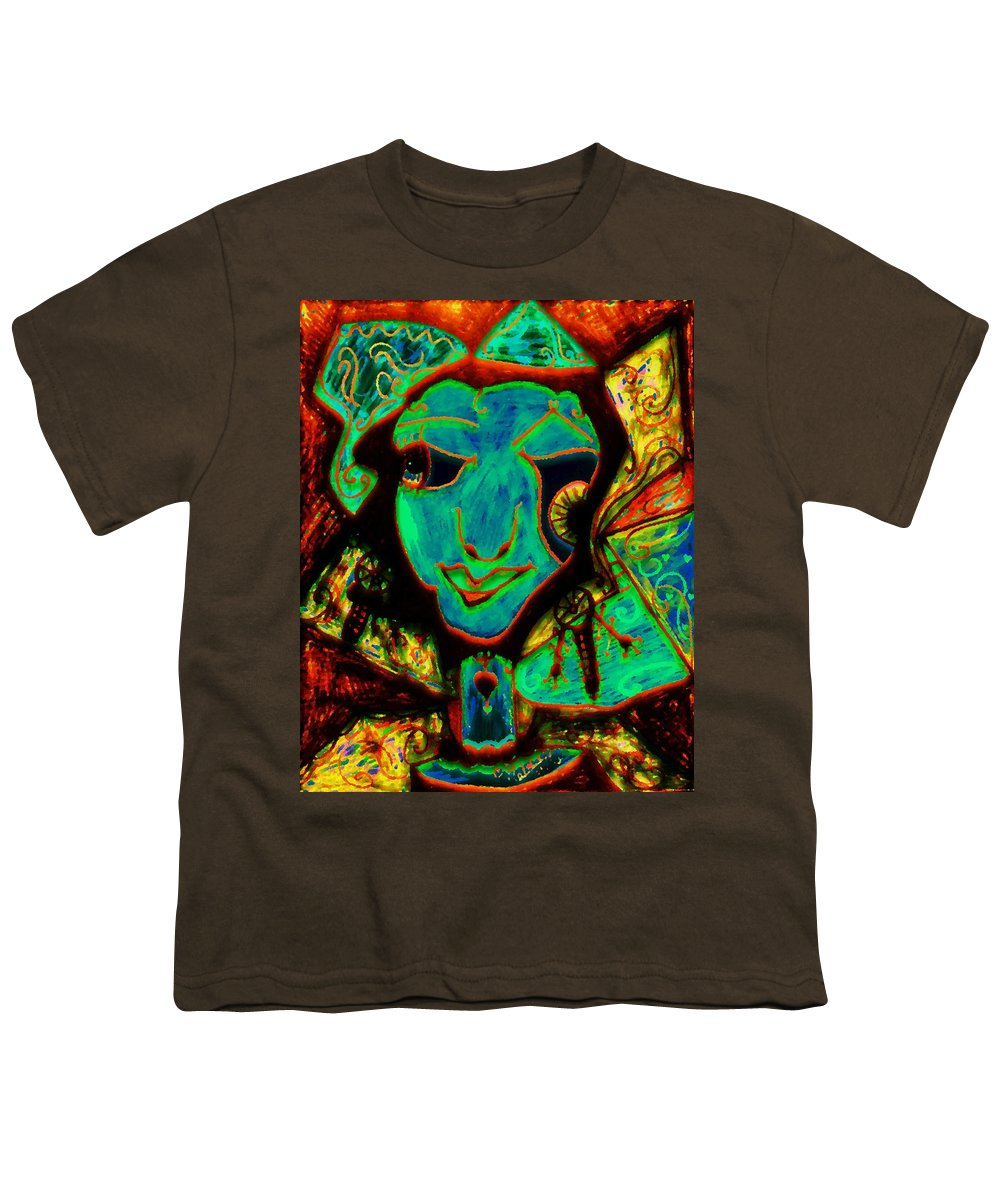 Fantasy Youth T-Shirt featuring the painting Self Portrait by Natalie Holland