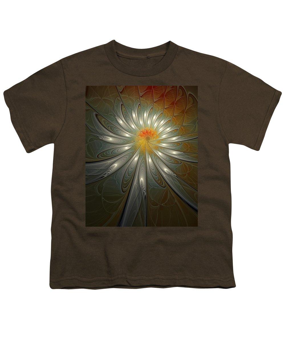 Digital Art Youth T-Shirt featuring the digital art Shimmer by Amanda Moore