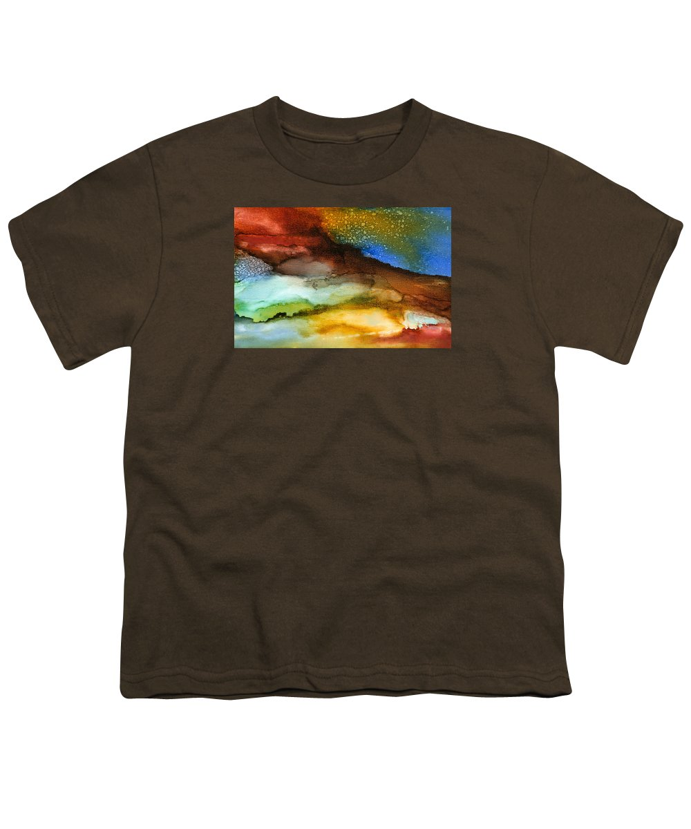 Abstract Youth T-Shirt featuring the painting Silent Conversations - A - by Sandy Sandy