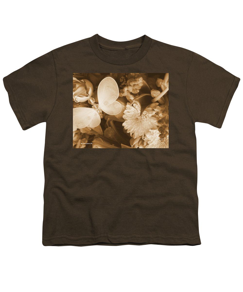 Photography Enhanced Youth T-Shirt featuring the photograph Silent Transformation Of Existence by Shelley Jones