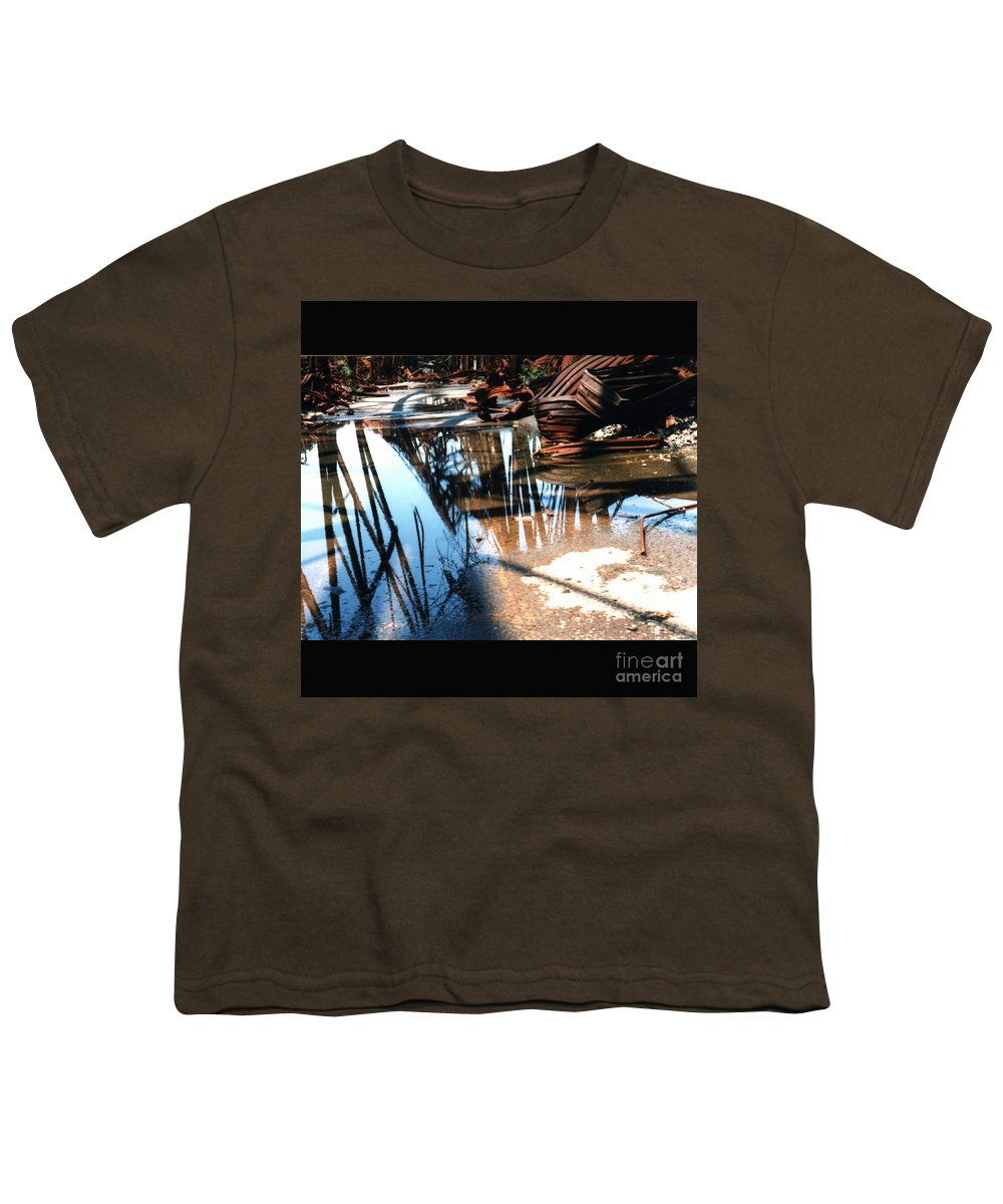 Cityscape Youth T-Shirt featuring the photograph Steel River by Ze DaLuz