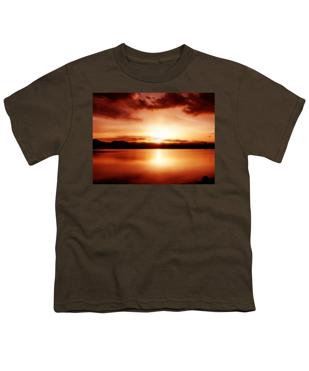 Lake Youth T-Shirt featuring the photograph Sunset by Marilyn Hunt