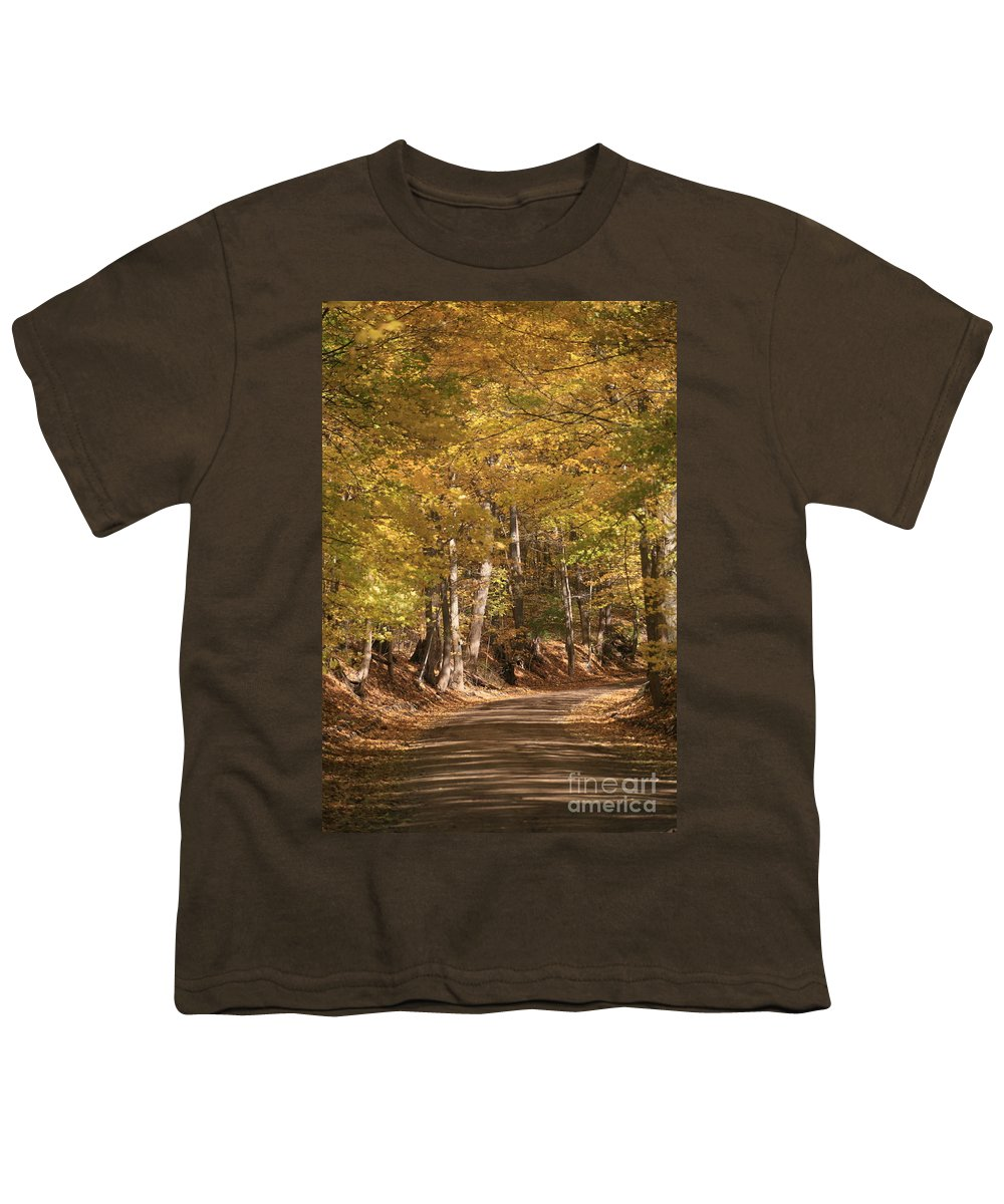 Golden Youth T-Shirt featuring the photograph The Golden Road by Robert Pearson
