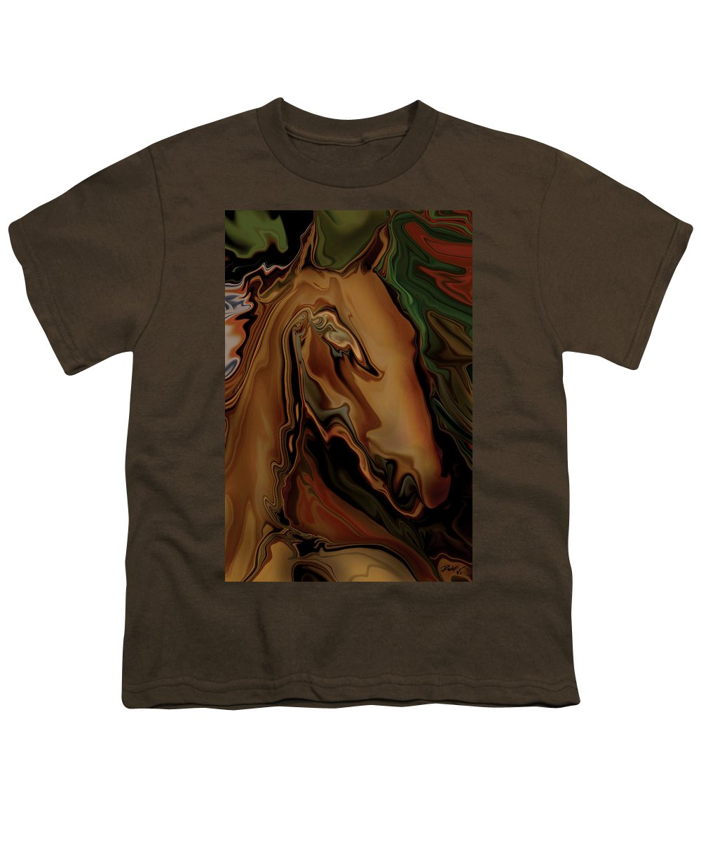 Animal Youth T-Shirt featuring the digital art The Horse by Rabi Khan