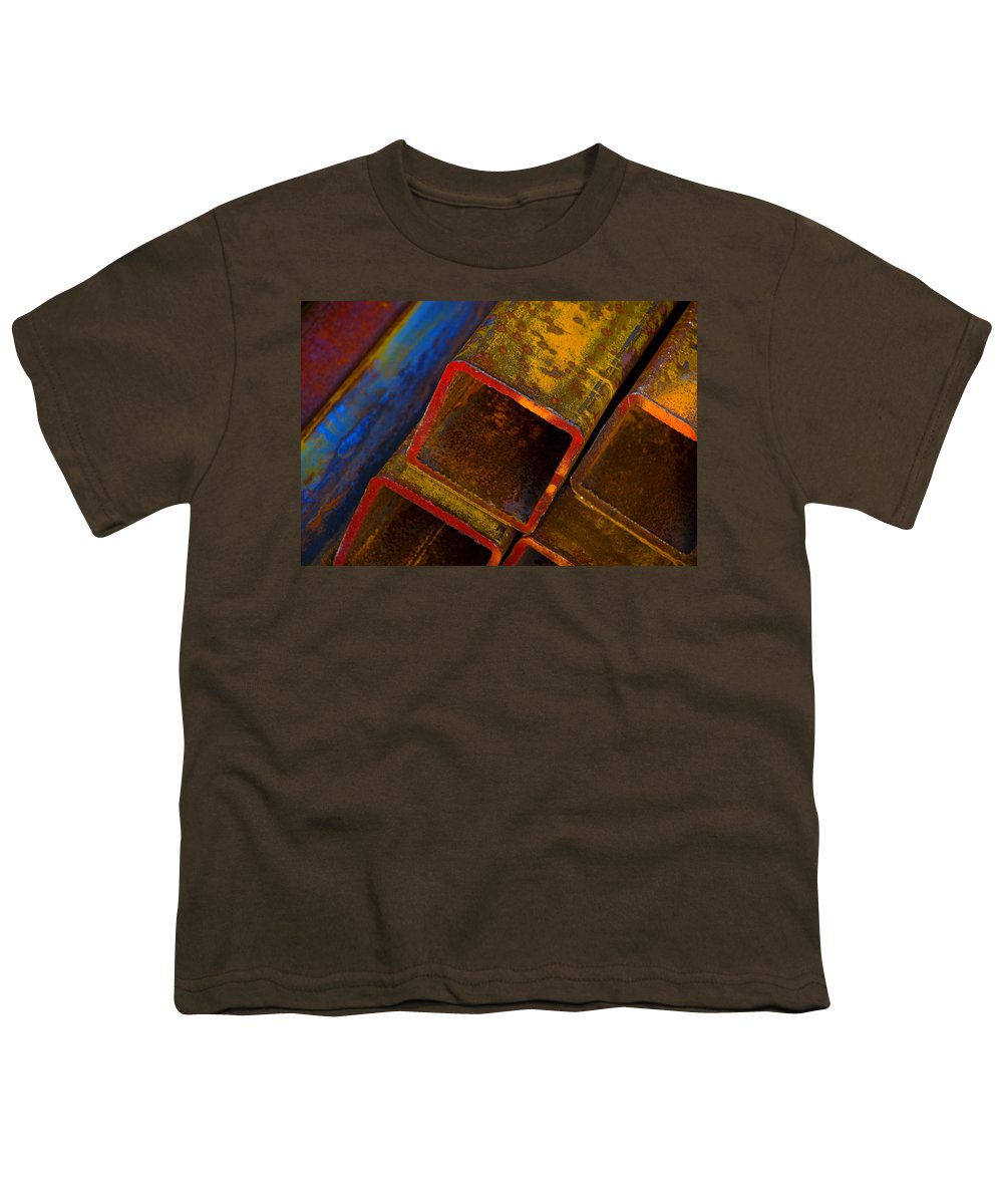 Abstract Youth T-Shirt featuring the photograph The River by Skip Hunt