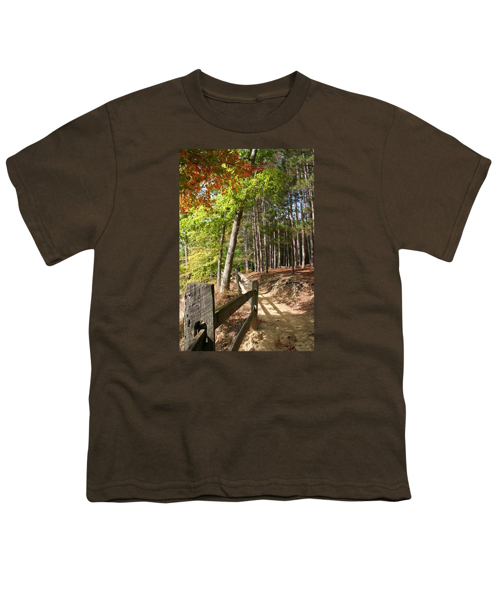 Tree Youth T-Shirt featuring the photograph Tree Trail by Margie Wildblood