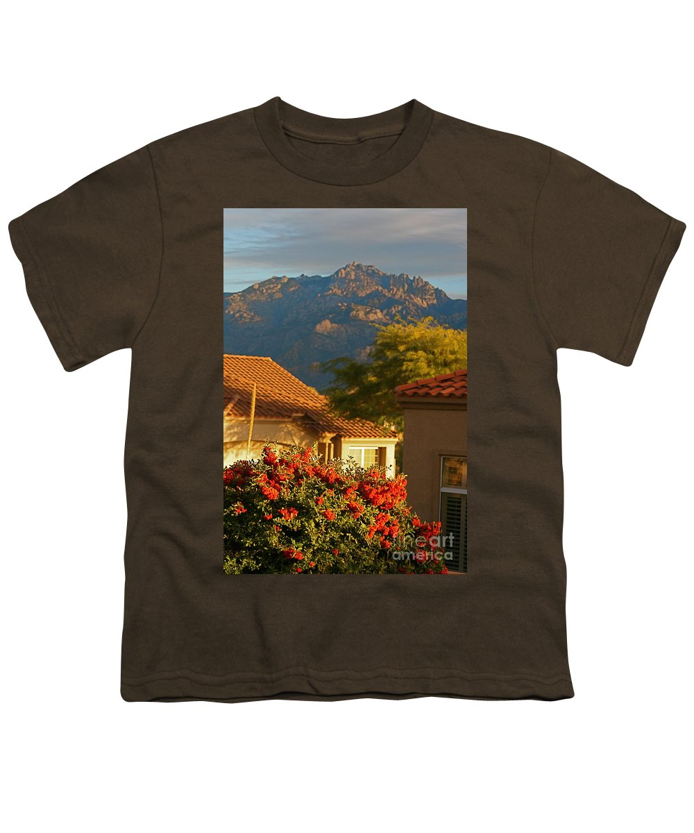 Mountains Youth T-Shirt featuring the photograph Tucson Beauty by Nadine Rippelmeyer